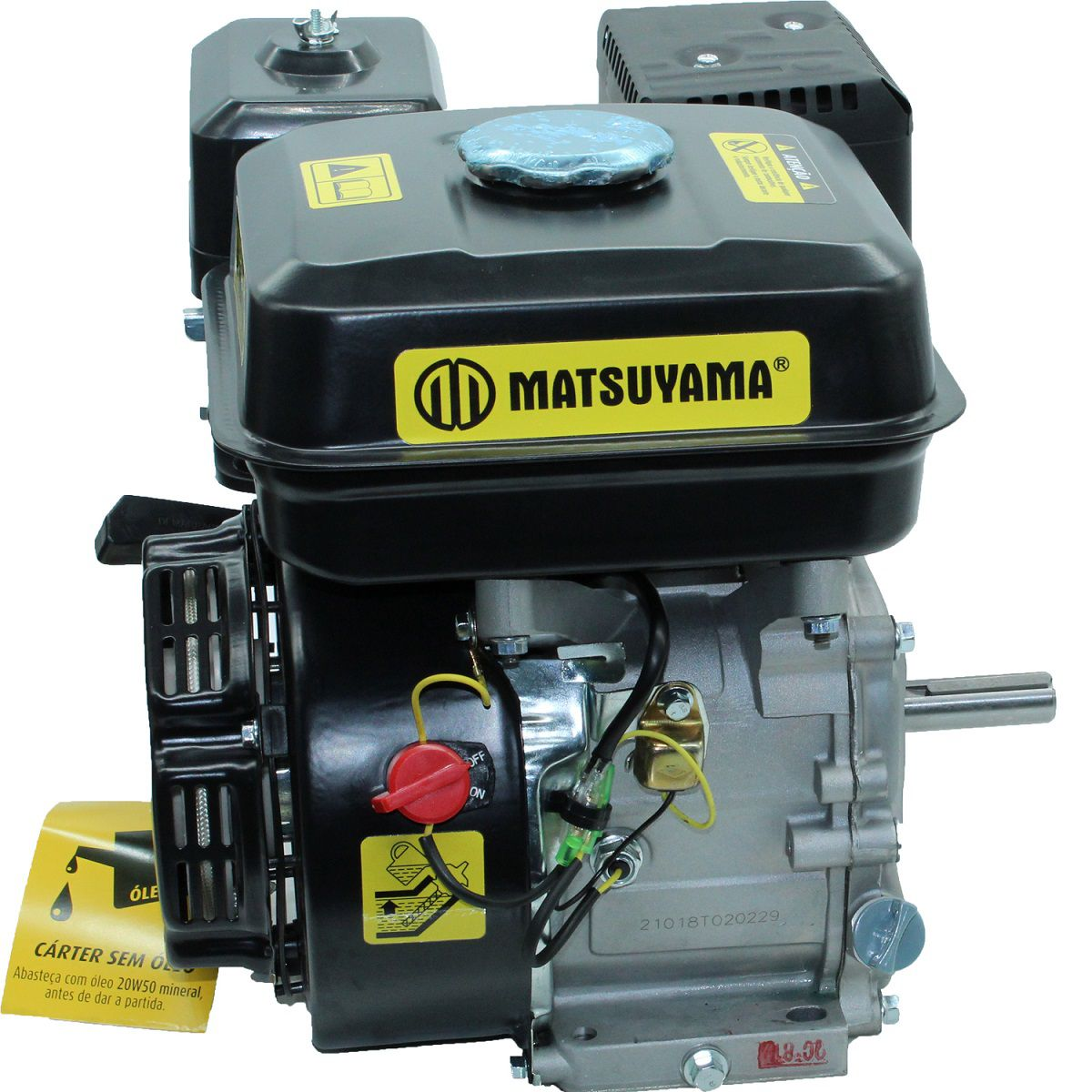 Motor Multiuso a Gasolina 4 Tempos 7HP Partida Manual Matsuyama