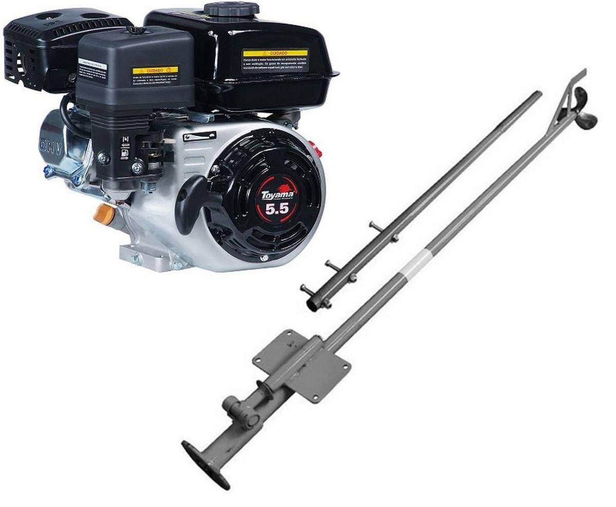 Motor Popa Rabeta 5.5HP 4 Gasolina Partida Manual 1,5M Toyama