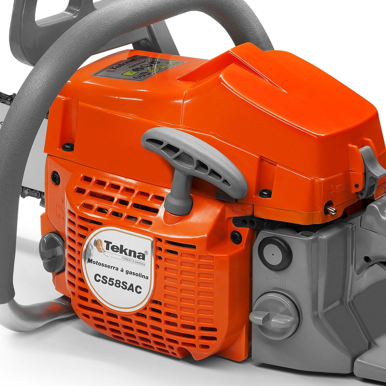 Motosserra 2T Gasolina CS58 54CC Sabre 50CM 20 Polegadas Tekna
