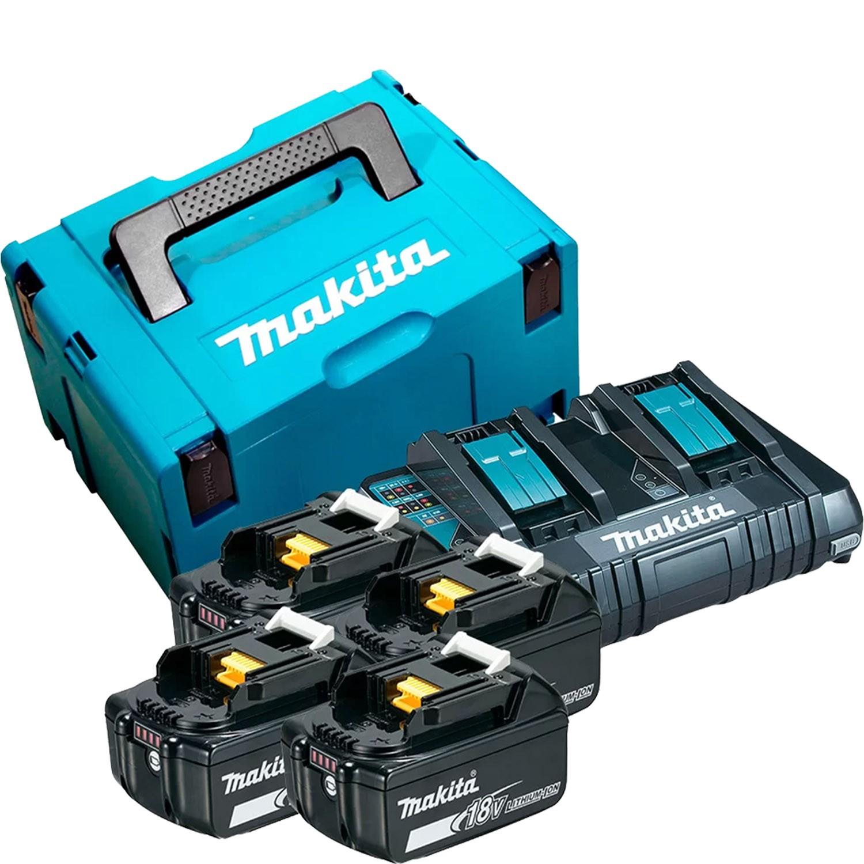 Motosserra a Bateria com 4 Baterias 18V 5Ah e Maleta Makita