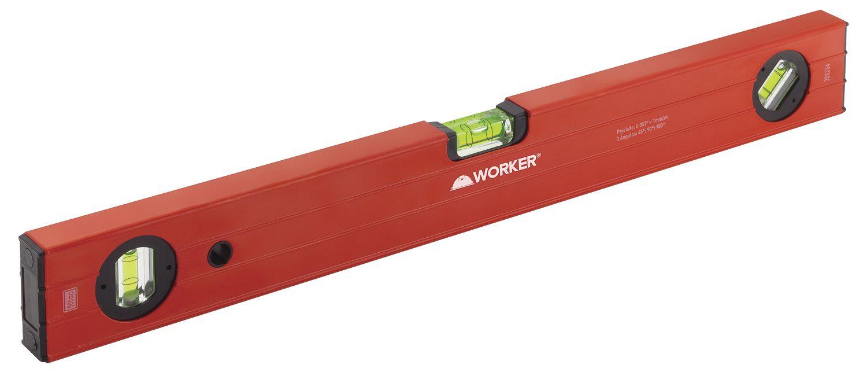 Nível Alumínio Tipo Box 40 Polegadas 1000mm 3 Bolhas Worker