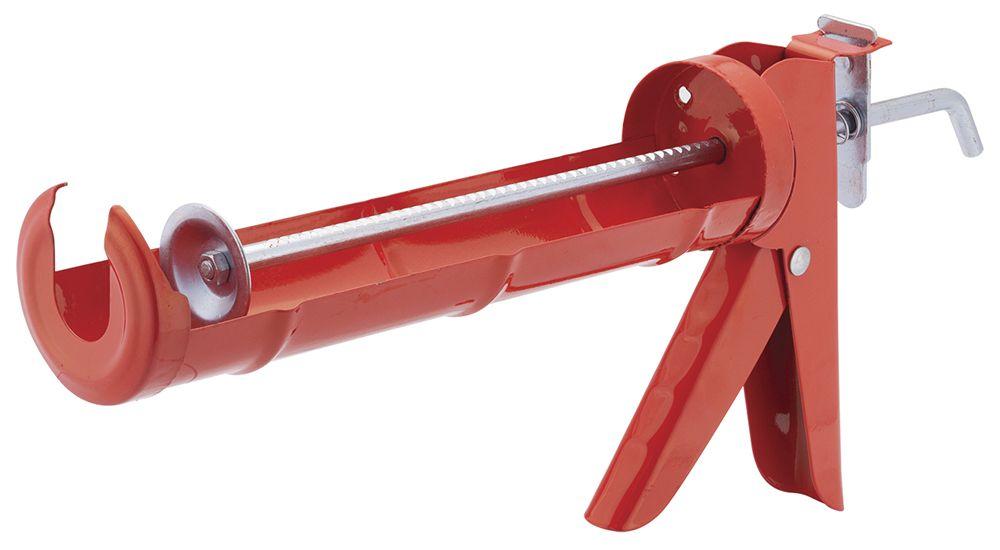 Pistola Aplicadora de Silicone 9 Polegadas Vermelho Worker