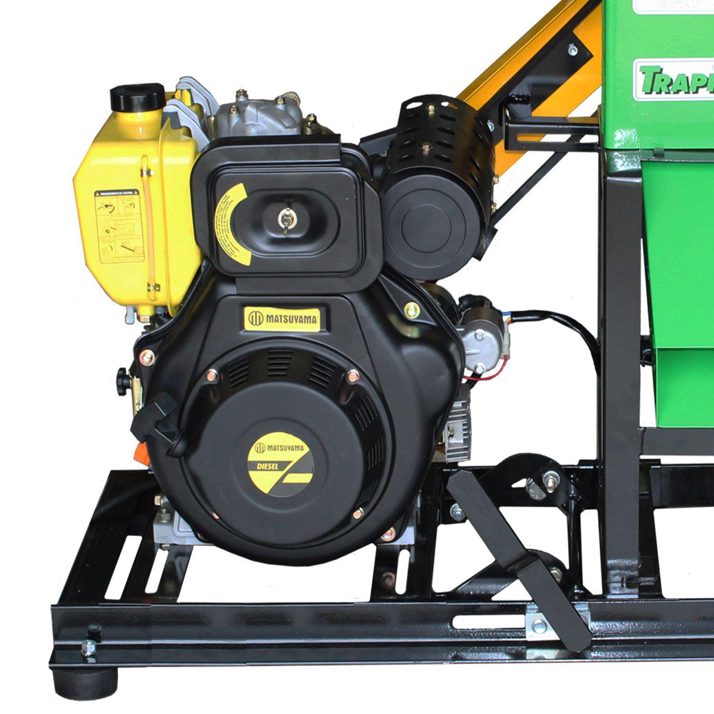 Triturador De Grãos E Folhagem a Diesel 10HP Partida Elétrica