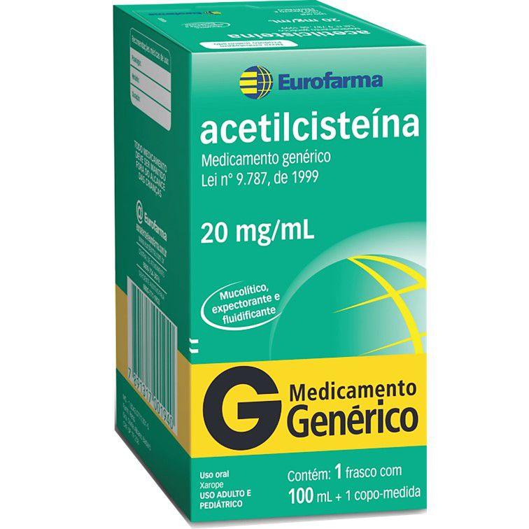 ACETILCISTEÍNA 20MG/ML EUROFARMA