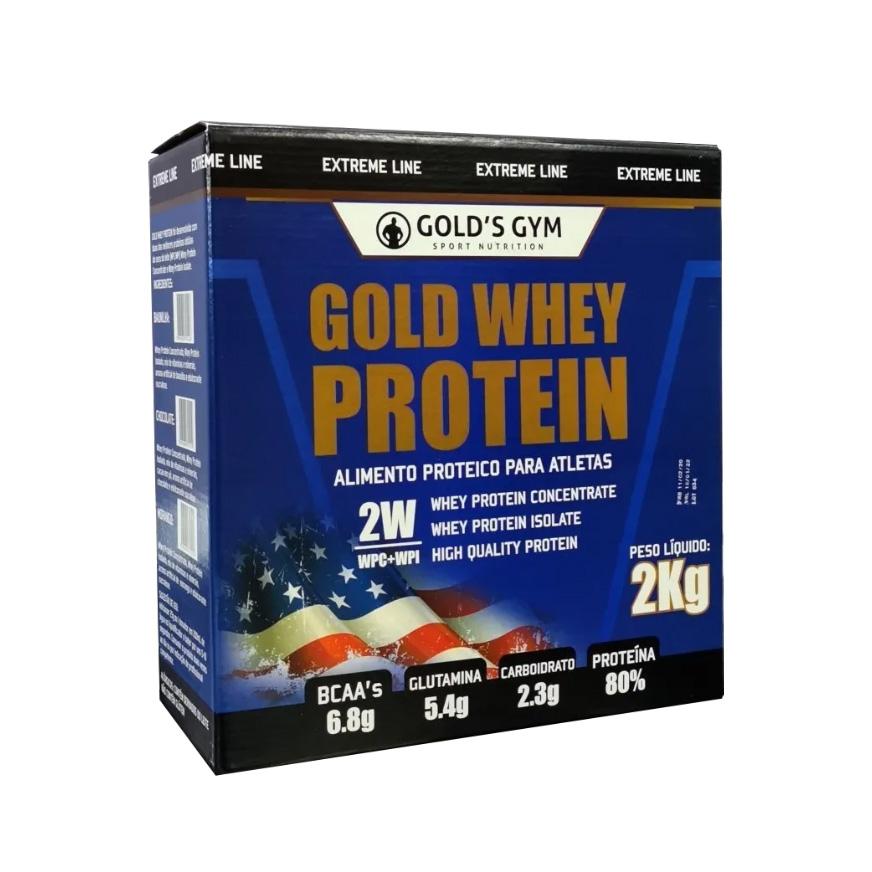Gold Whey Protein - Alimento Proteico para Atletas 2kg - Baunilha