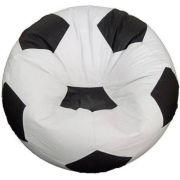 Puff Bola Futebol Grande Várias Cores Pronto Para Usar Cheio Cor: Branco/Preto