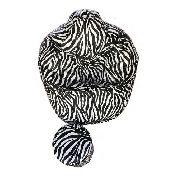Puff Zebra + Apoio De Pés ** Sem Enchimento ** Vazio