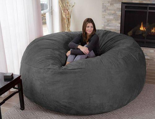 Puff Gigante Redondo De Suede 1,55 Diâmetro x 50 Altura Cheio Com Forro