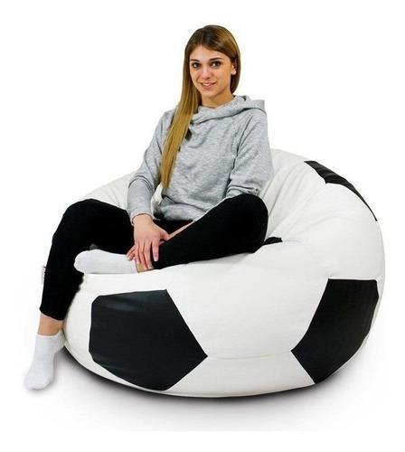 Puff Bola Futebol CHEIO Com Forro Flocos Isopor Somente Retirada