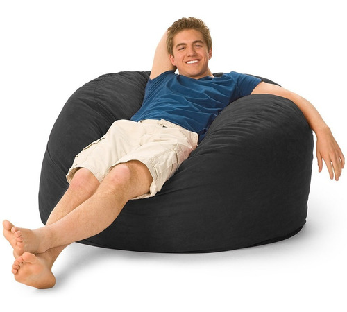 Puff Gigante Confortável 100x50 Em Suede Com Enchimento