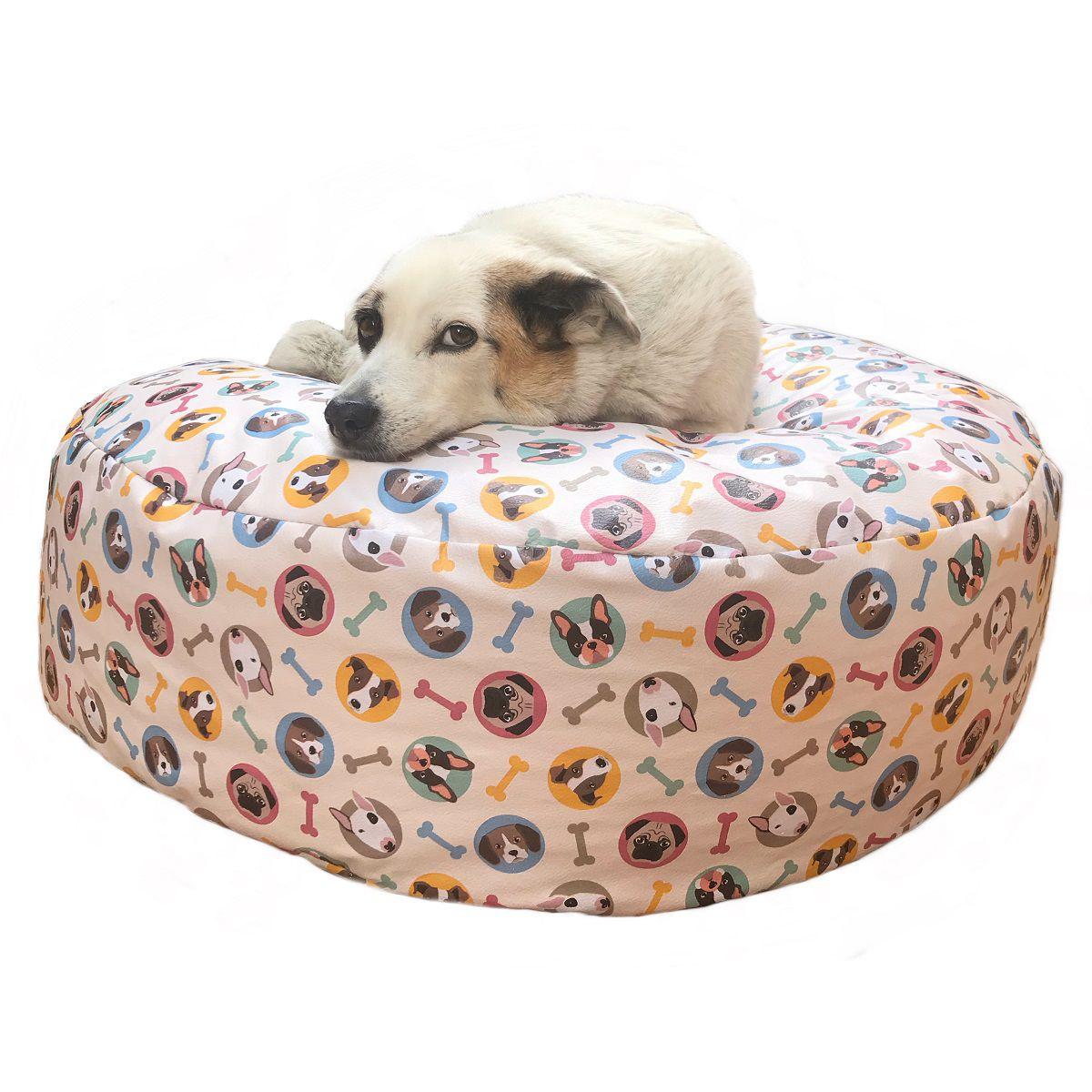 Puff Para Pet tamanho M Medidas 80diametro x 20altura Impermeável Fácil Limpeza - Ótima Opção Para Presente !
