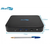 Mini PC Blue LV Plus 4100, Intel Quad Core, 4GB LPDDR4, eMMC 64GB, Wifi Dual Band AC, 1x VGA, 1x HDMI, 1x RJ-45 LAN Gigabit, Bluetooth