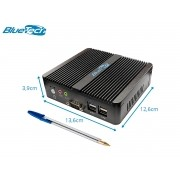 Mini PC Industrial IBT 1800 Intel® Dual Core, 4GB DDR3, SSD 120GB, HDMI, VGA, 2x Seriais, 2x LAN