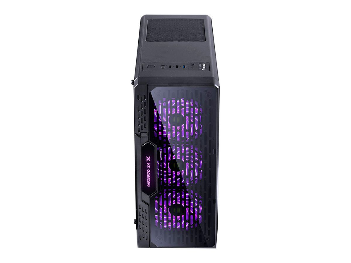 GABINETE MIDTOWER VX GAMING LUMIA FULL WINDOW FUMÊ LED 7 CORES 09GALM7-3RGB