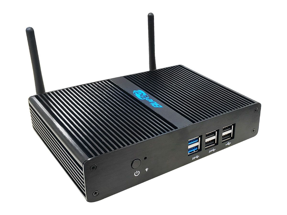 Mini PC Blue AL-J2900, Intel Pentium J2900 Quad Core Fanless, 4GB DDR3, SSD 60GB, 2x HDMI, USB 3.0, Gigabit LAN, Wifi