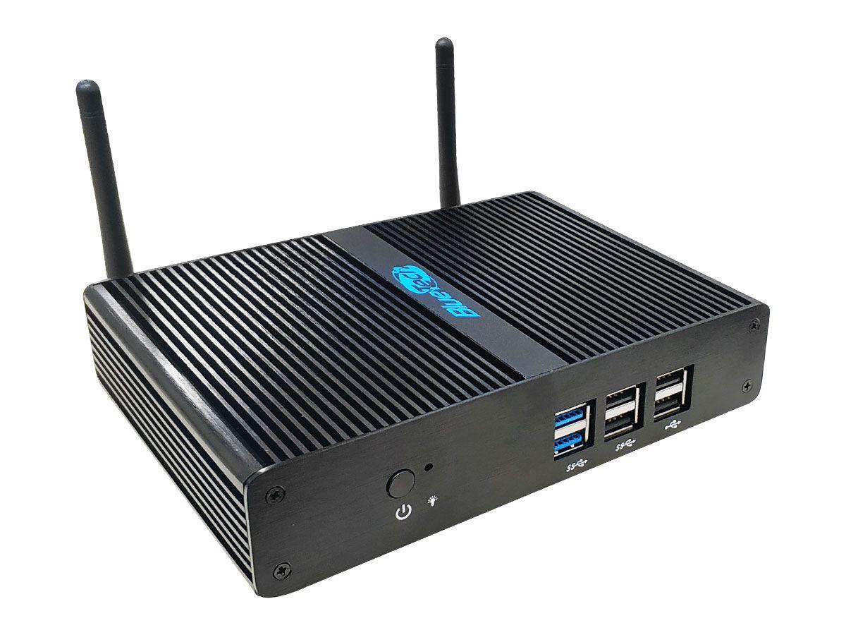 Mini PC Blue AL-J2900, Intel Pentium J2900 Quad Core Fanless, 4GB DDR3, SSD 60GB, 2x HDMI, USB 3.0, Gigabit LAN, Wifi, Win 10