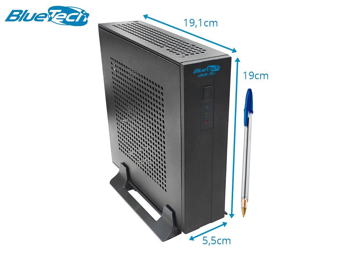 Mini PC Bluetech 2KV4K J1800 Intel, 4GB DDR3, SSD 120GB, HDMI, VGA, Windows 10