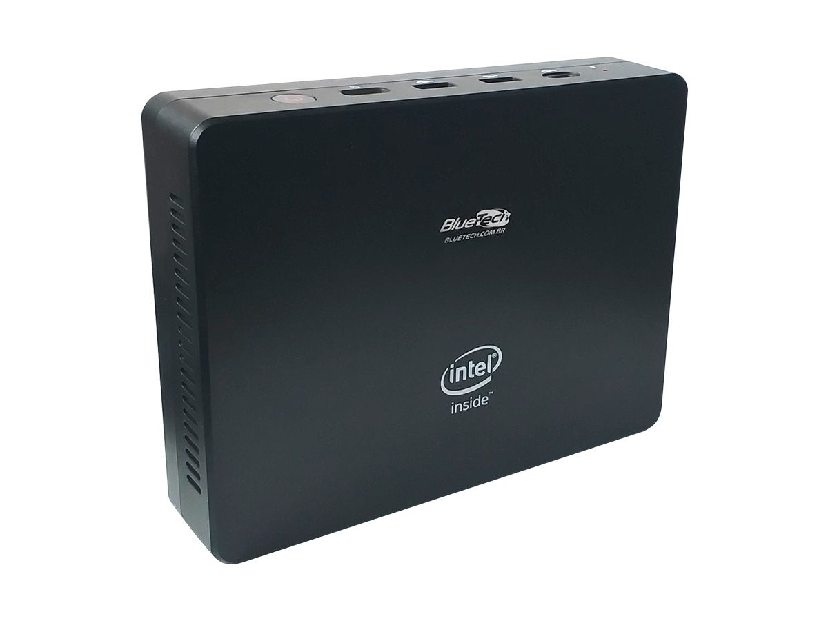 Mini PC Bluetech LV Plus, Intel Quad Core, 4GB DDR3, 32GB eMMC, SSD 120GB, 1x VGA, 1x HDMI, 1x RJ45 Gigabit, Wifi, Bluetooth, USB 3.0 Tipo-C, Windows 10  - Engemicro
