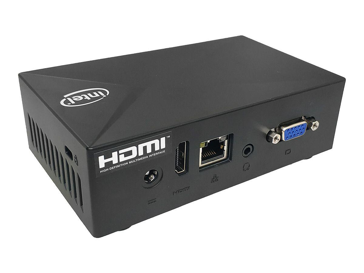 Mini PC Liva XE Intel Quad Core, 2GB DDR3L, 32GB eMMC, 1x VGA, 1x HDMI, 3x USB 3.1, 1x RJ45 LAN, Win 10 Pro