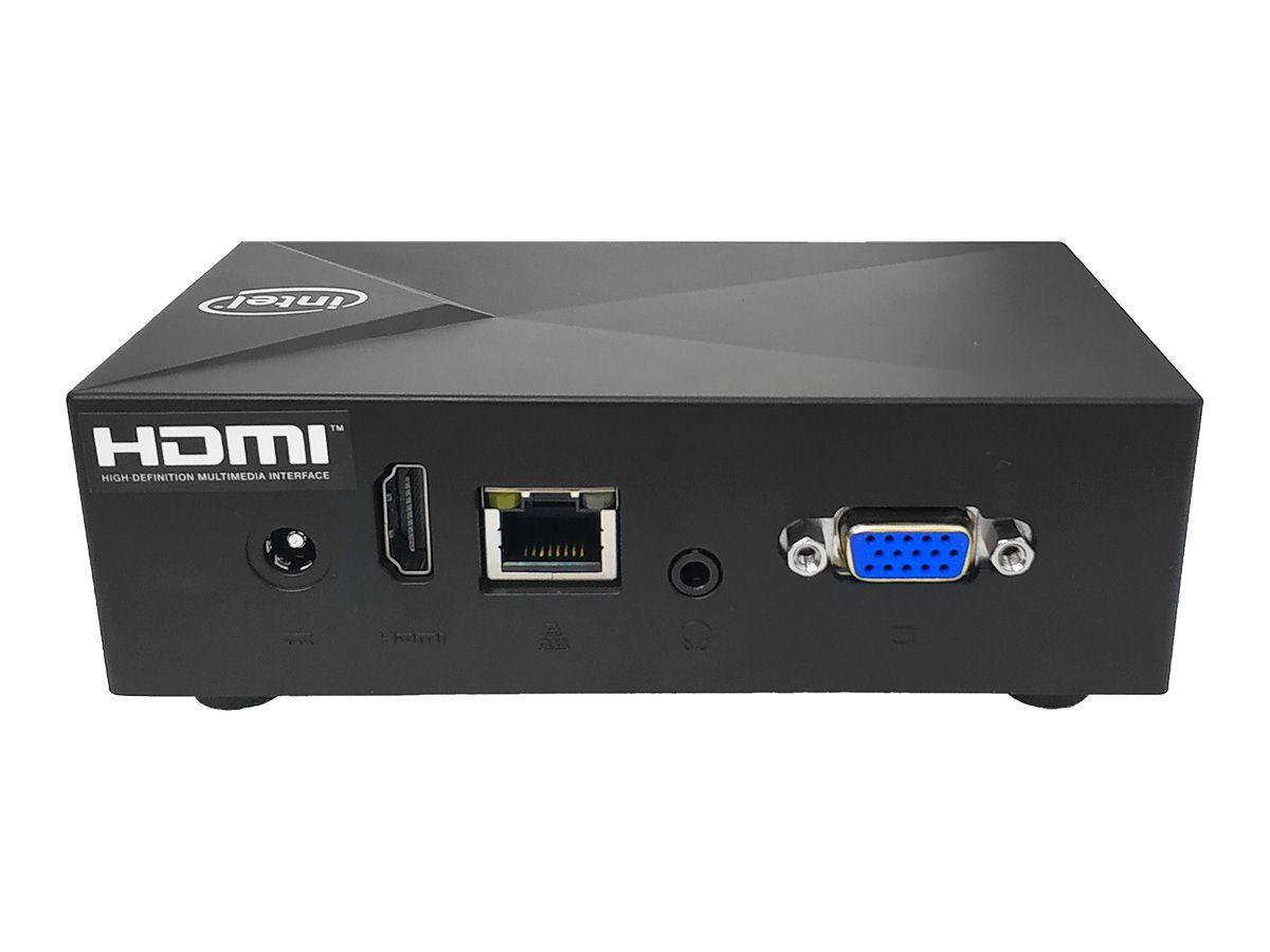 Mini PC LV XE Intel Quad Core, 2GB DDR3L, 32GB eMMC, 1x VGA, 1x HDMI, 3x USB 3.1, 1x RJ45 LAN, Win10 Pro