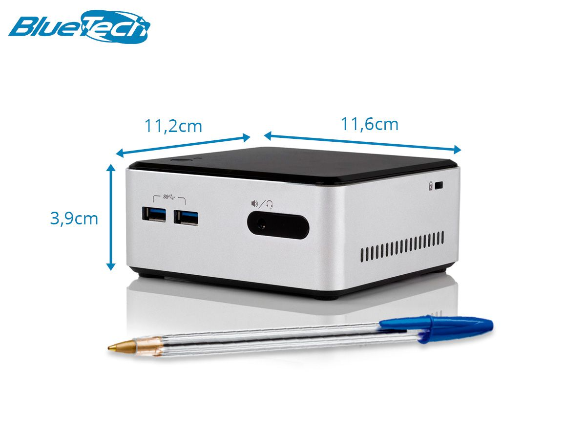 Mini PC NUC D34010WYKH, Intel Core i3, 4GB DDR3L, mSATA 64GB, 1x Mini-DP, 1x Mini HDMI, Wifi