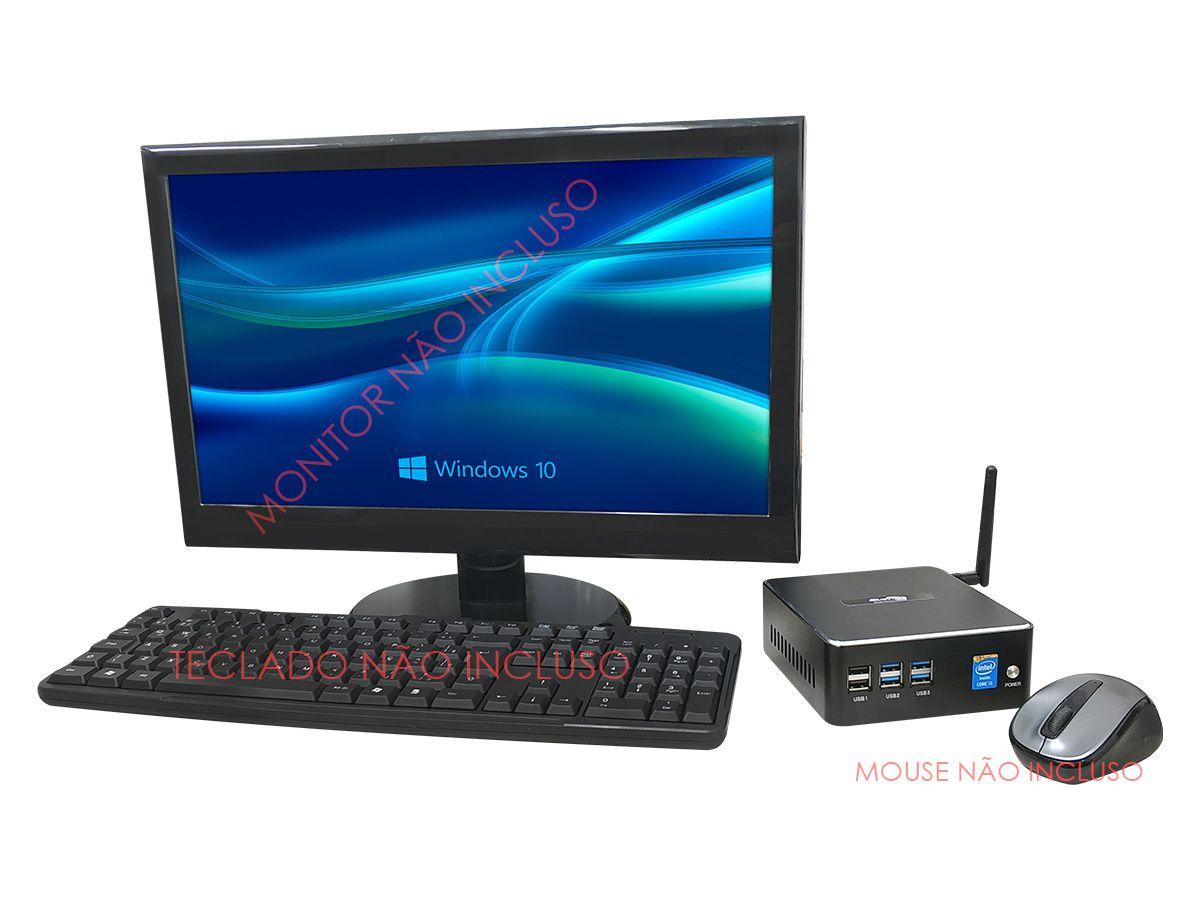 Mini PC NUC Intel Core i3, 4GB DDR3, SSD 240GB, 1x HDMI, 1x VGA, 6x USB, 1x LAN RJ 45 Gigabit, Windows 10 Pro