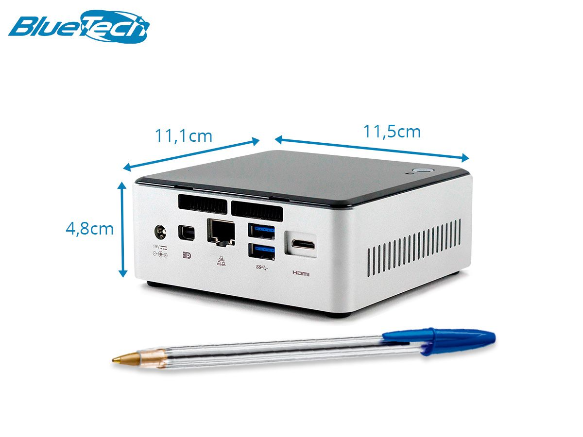 Mini PC NUC NUC5i5RYH, Intel Core i5, 8GB DDR3L, SSD 240GB, 1x Mini-DP, 1x Mini HDMI, Wifi