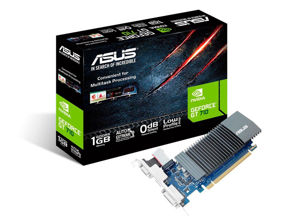 Placa de Vídeo GeForce GT 710 1G GDDR5 GT710-SL-1GD5 Asus