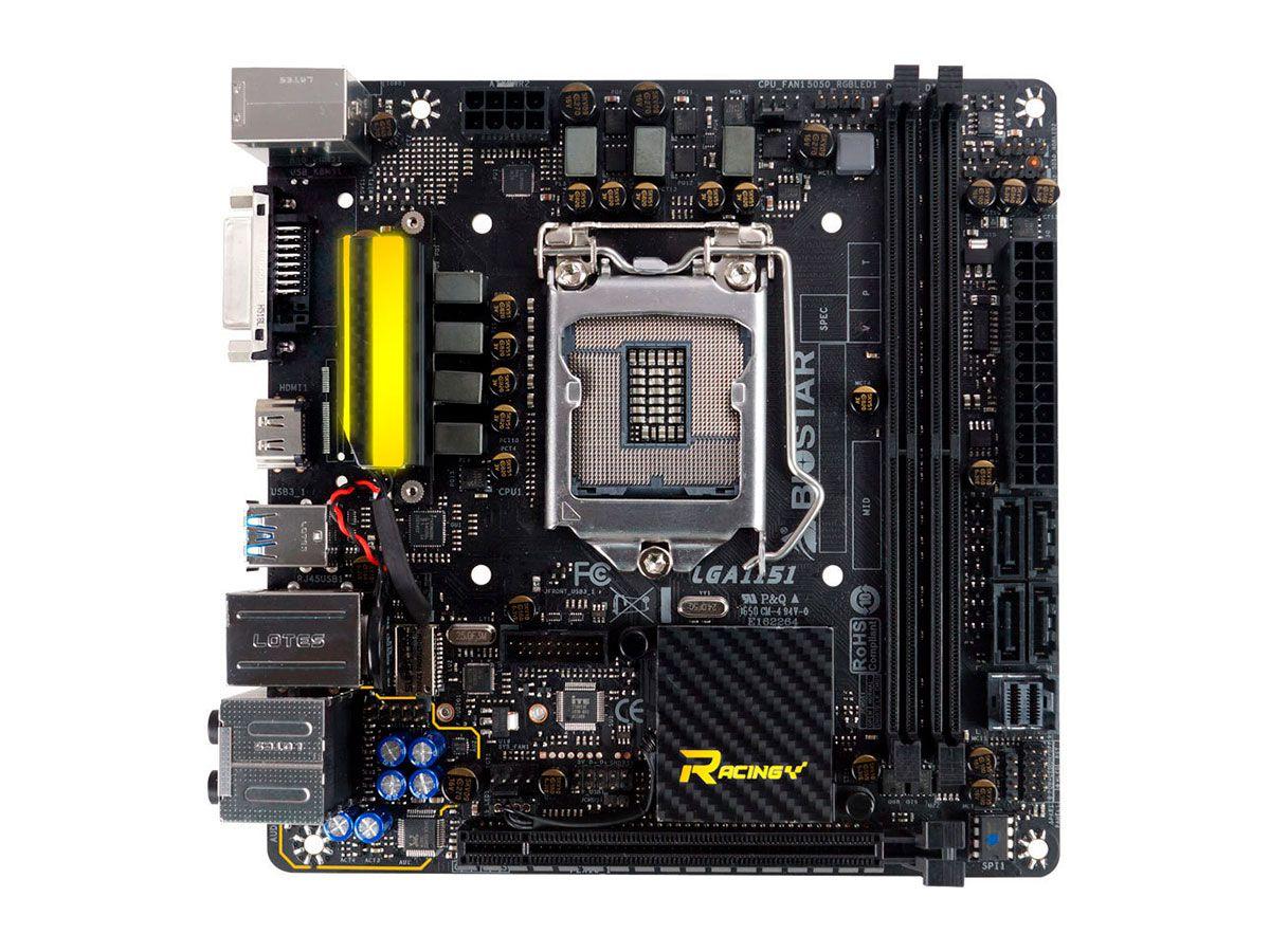 Placa Mãe Biostar B250GTN Socket 1151 DDR4 M2 HDMI DVI RJ-45 USB 3.0  - Engemicro