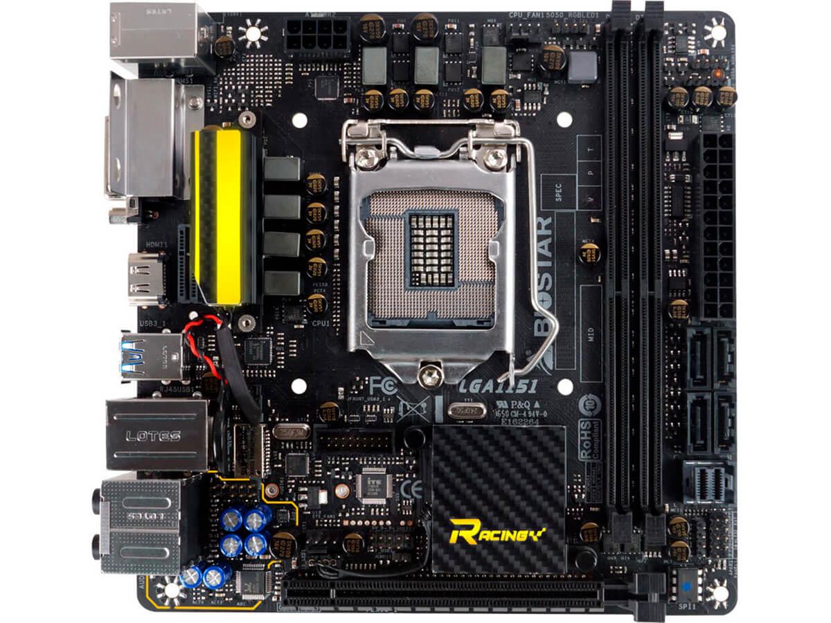 Placa Mãe Biostar Z270GTN Socket 1151 DDR4 M2 HDMI DVI RJ-45 USB 3.0