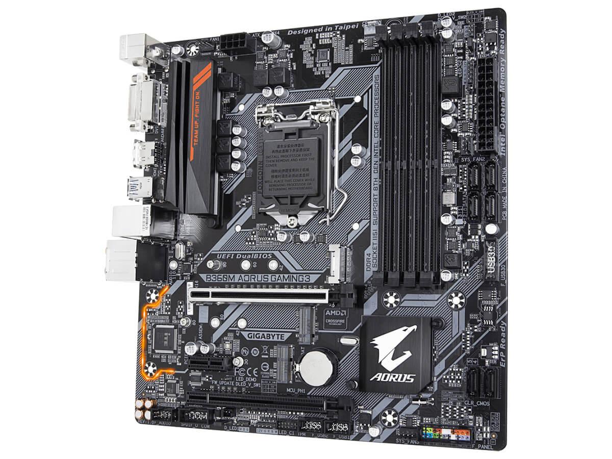 Placa-Mãe Gigabyte Aorus B360M Aorus Gaming 3, Intel LGA 1151, ATX, DDR4