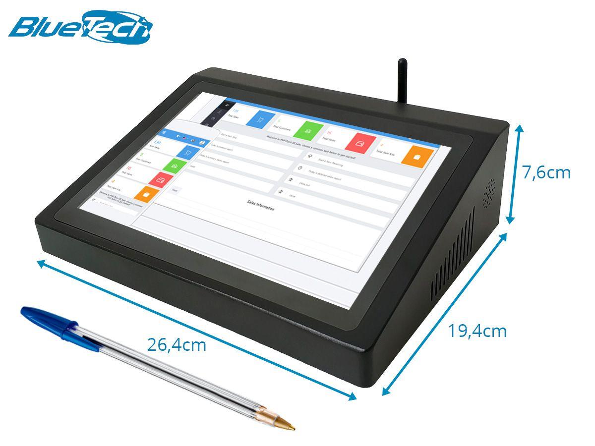 "Terminal Touch BTX Bluetech Intel Quad Core, 4GB LPDDR3, 64GB armazenamento, Wifi, Windows 10, Tela 10.1"""