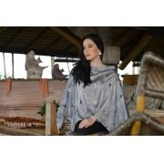Blusa lenço de seda