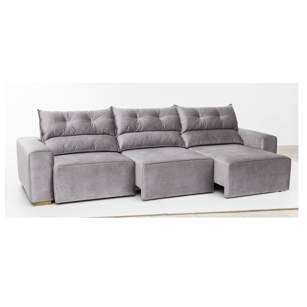 Sof reclin vel e retr til for Sofa 5 lugares reclinavel e assento retratil