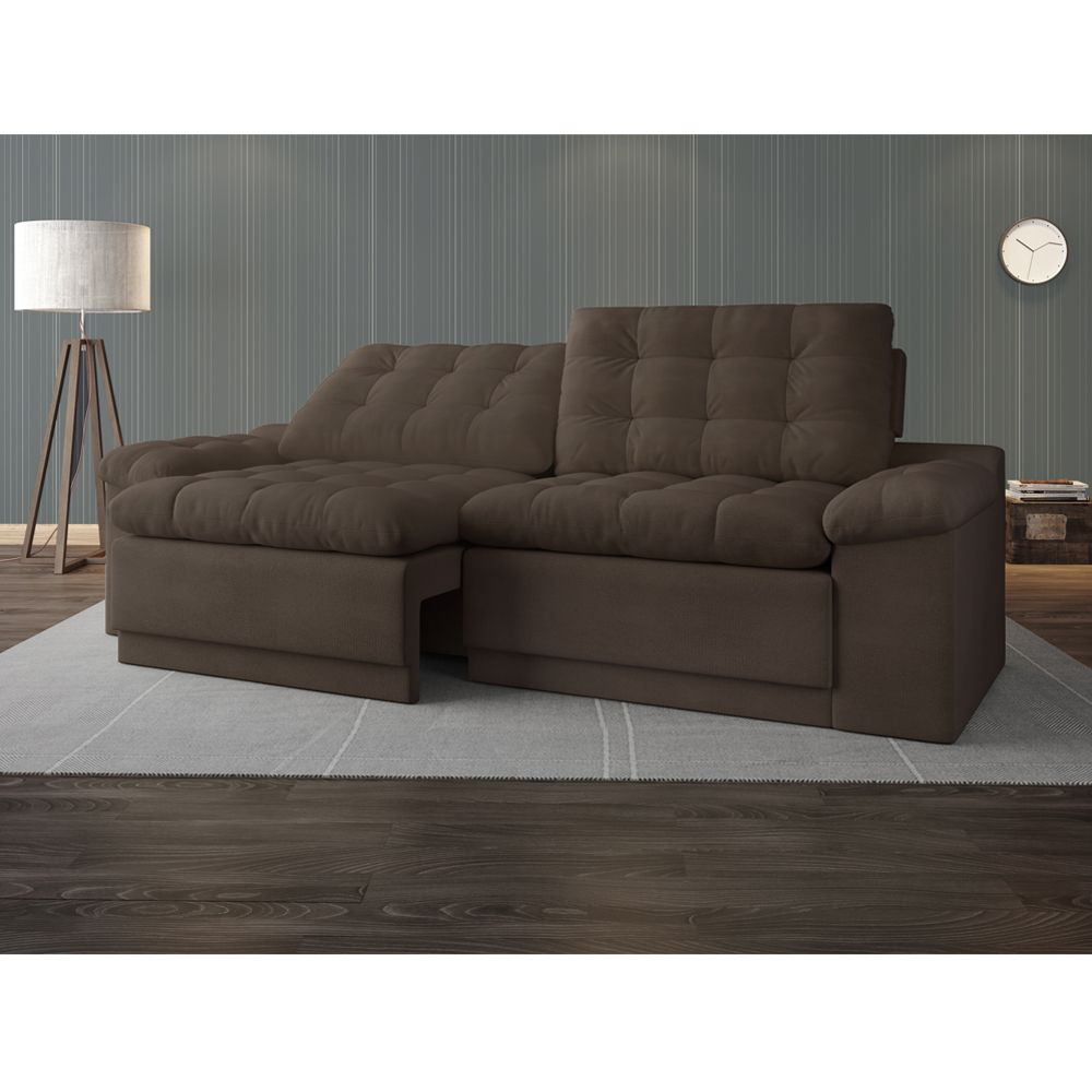 Sof 4 lugares net confort assento retr til e reclin vel for Sofa 03 lugares retratil e reclinavel