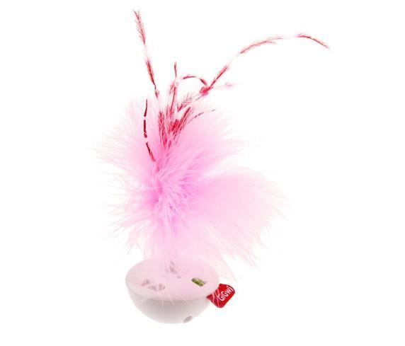 Tumbler musical com plumas rosa