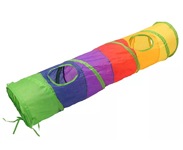 Túnel colorido comprido