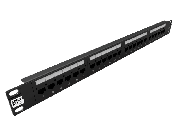 Patch Panel 24p Cat.6 Soho Plus