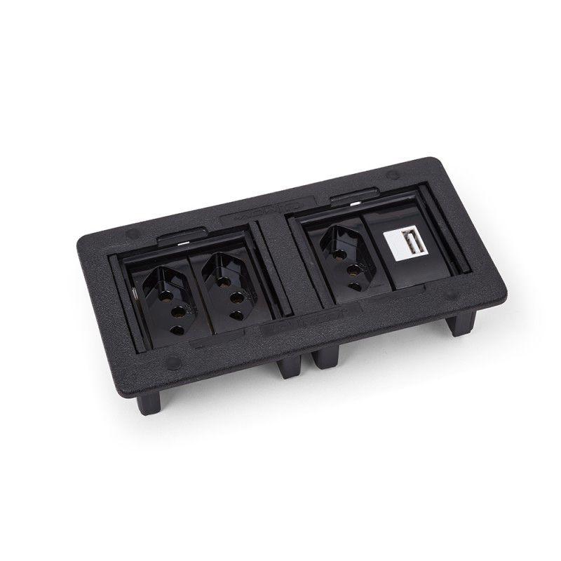 Caixa de embutir - ABS p/ 4 blocos