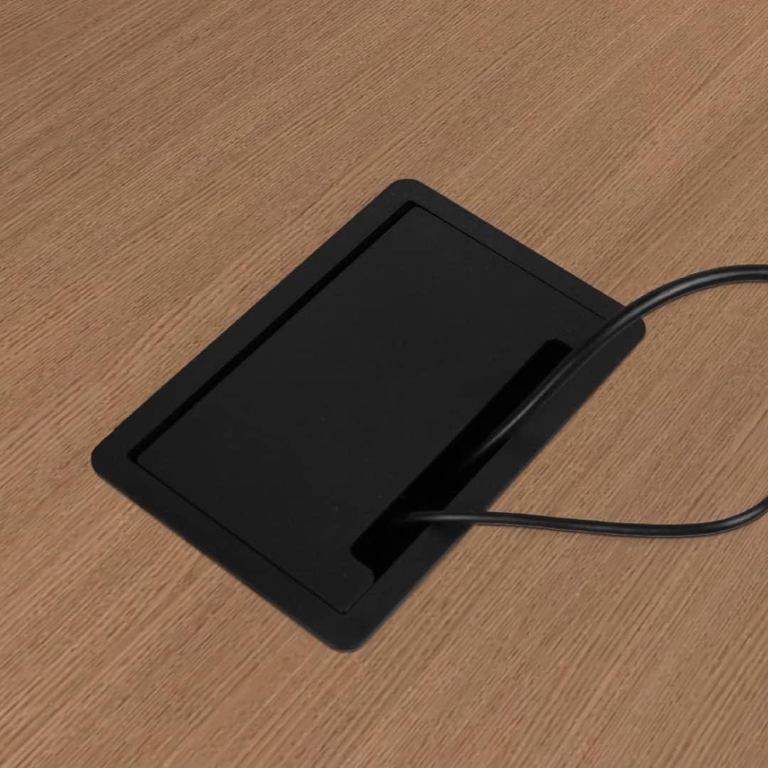 Caixa de Mesa Embutir Mac p/ 6 tomadas elétricas + 3 Conectores Tipo Keystone