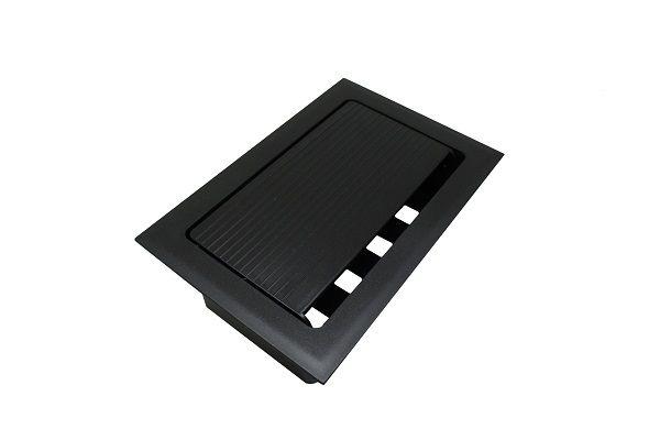 Caixa de Mesa Embutir Pop  p/ 4 tomadas elétricas + 4 Conectores Tipo Keystone