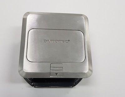 Caixa de Piso Quadrada com  3 tomada Eletrica Cr4