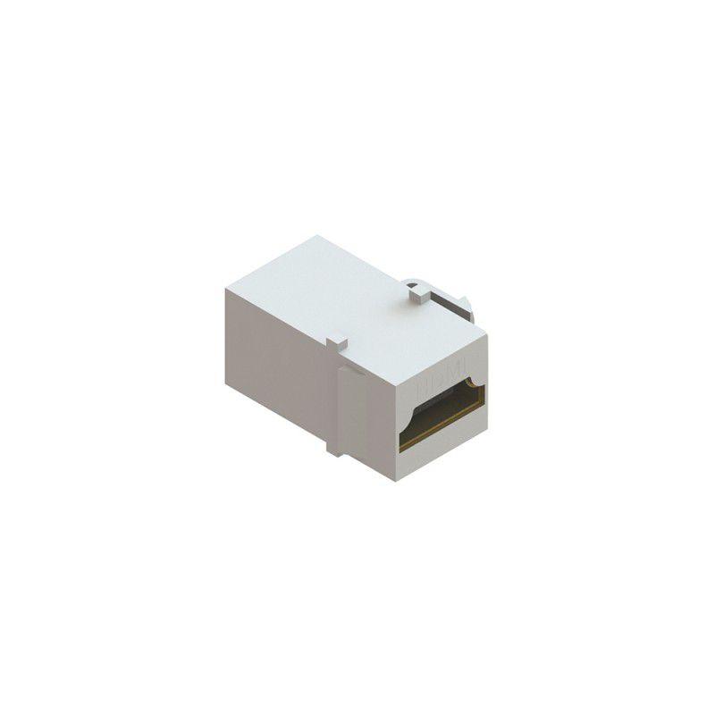Conector HDMI Femea x Femea tipo Keystone c/ modulo kesytone