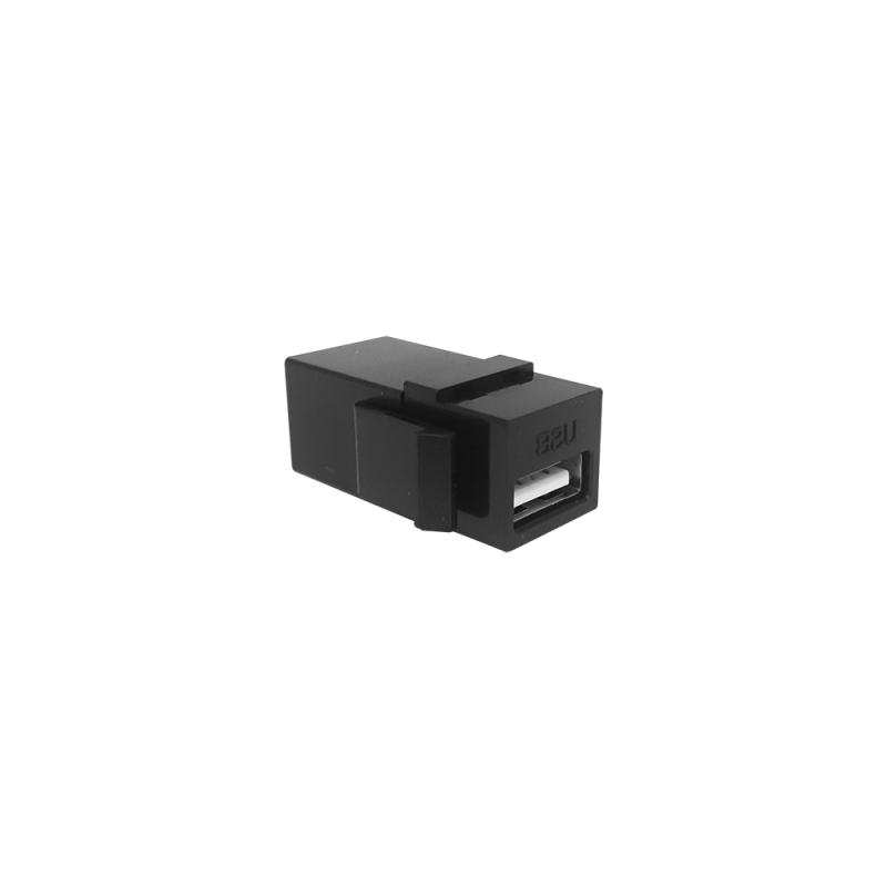 Conector USB Emenda Femea x Femea tipo Keystone c/ modulo kesytone