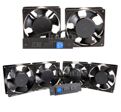 Kit com 4 ventiladores para Rack