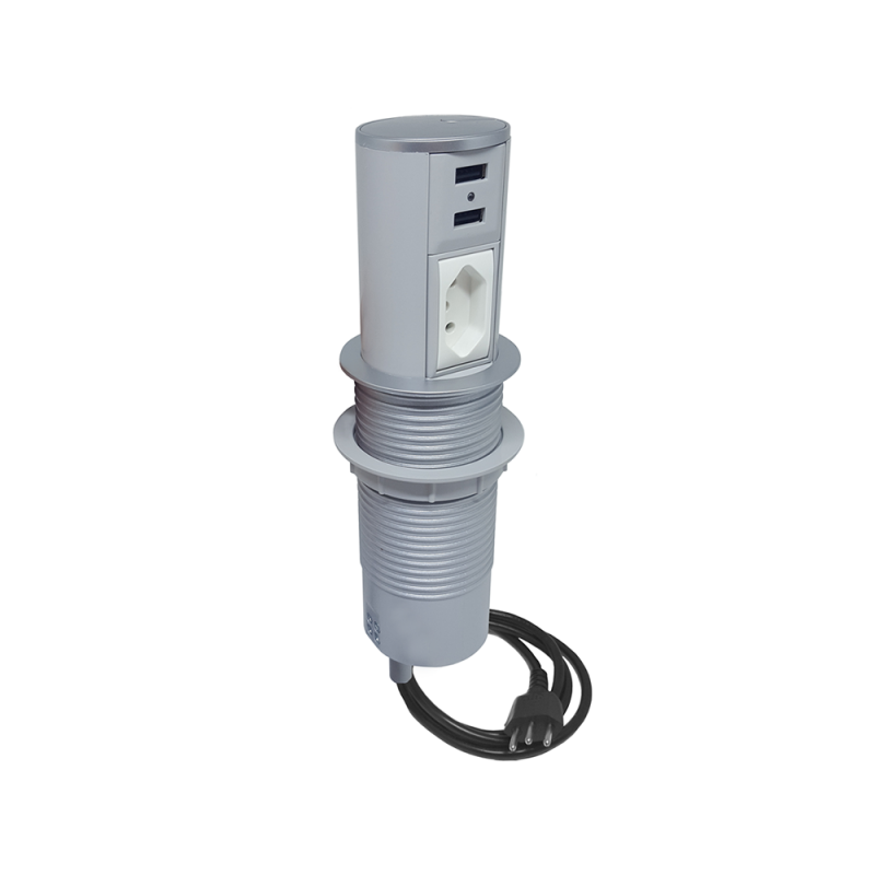 Mini Totem Automático 1 Elétrica 10A e 2 Usb Charger