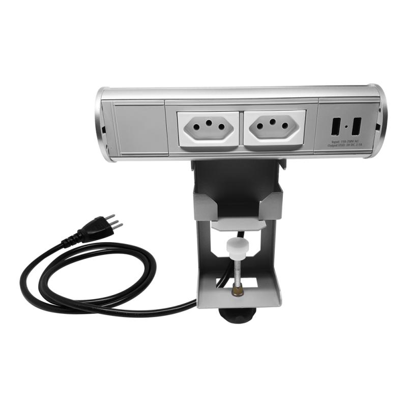 Estação de tomada portátil - 2 Tomadas + USB