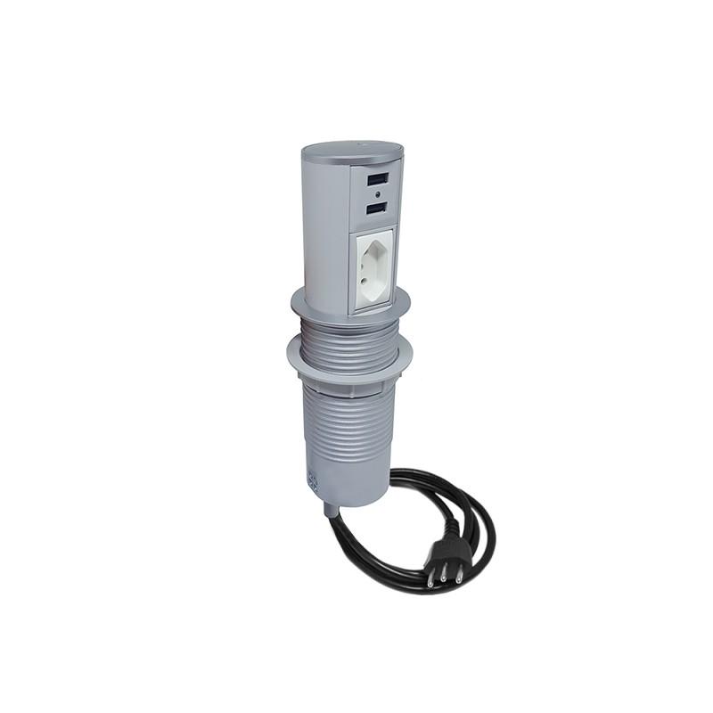 Torre de tomada automática - 1 Elétrica 10A + 2 USB