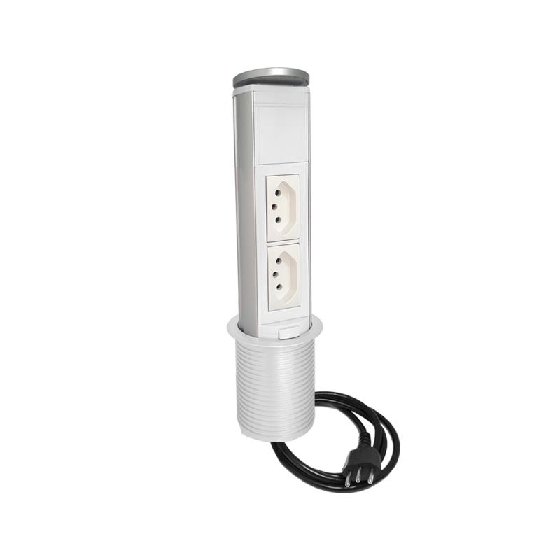 Torre de tomada manual - 2 Elétricas 10A
