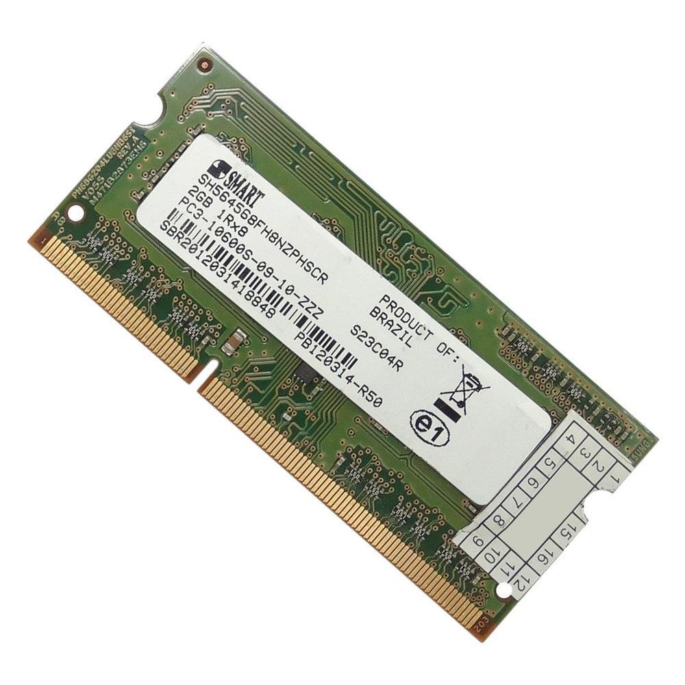 Memória Smart 2GB DDR3 1333MHz para notebook